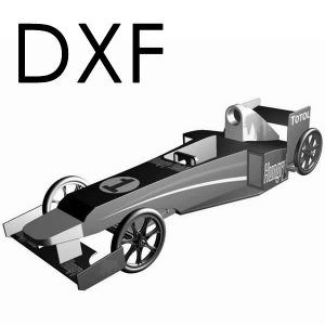 Seifenkiste - DXF Hungry Heidi - Soapbox DXF Download