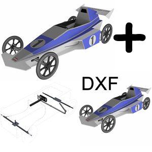 Seifenkiste - Bauplan Vaillante F1 EVO plus DXF und Achse Bremse Lenkung PDF Download [Digital]