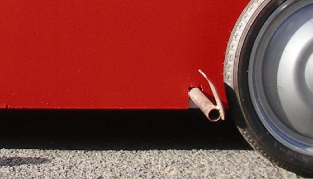 Räder von einer Seifenkiste