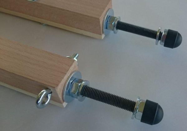 Vorder- und Hinterachse Seifenkiste Holz