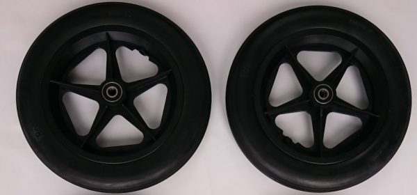"2 x 12"" Kunststoffrad Set unkaputtbar / Plastic Wheel unbreakable"