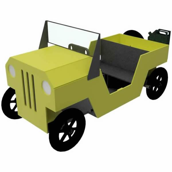 Jeep als Seifenkiste Rendering
