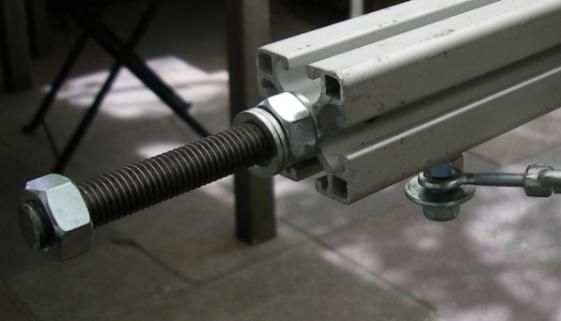 Aluminiumachse für Seifenkiste