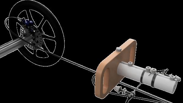 Detail Scheibenbremse und Lenkung
